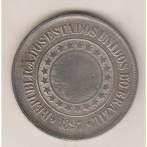 A285 - 200 Réis 1897 Moeda Da República Níquel R$ 18,00