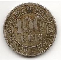 Moeda 100 Réis 1871 Império !