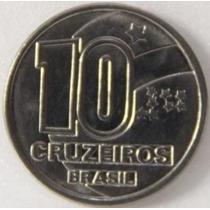 Moeda Brasileira Antiga - 10 Cruzeiros 1990 Frete Grátis