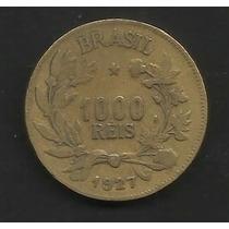 M1-17-brasil-moeda De 1000 Réis-ano 1927-bronze-aluminio