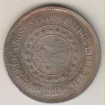 F45 - 200 Duzentos Réis 1889 Moeda De Níquel R$ 10,00