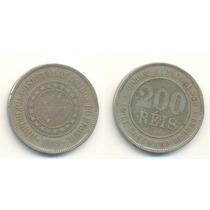 Moeda De Cupro-niquel 200r.1889circulada.