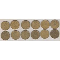 B252 - 2 Dois Cruzeiros Coleção 12 Moedas 43 A 55 R$ 65,00
