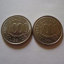 2 Moedas De 1000 Cruzeiros Acará 1993
