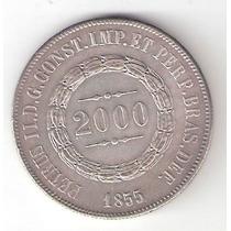 2000 Reis - 1855 - Prata 917 - 25,5 Gr