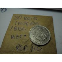 Moeda Rara Do Império 50 Reis 1886-mbc/sob Oferta Ref 110