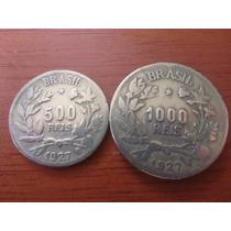 Moeda - Brasil - 500 E 1000 Réis - 1927 - Mbc