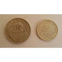 Moedas De Prata De 1000 E 500 Réis De 1913 - Estrelas Soltas