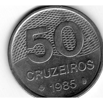 Moeda Brasileira Antiga - 50 Cruzeiros 1982/83/84/85