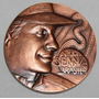 Moeda Medalha Ayrton Senna Bronze Casa Da Moeda 318 Gramas!
