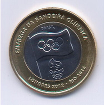Brasil - 1 Real - Entrega Da Bandeira Olimpica