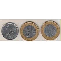 B167 - 1 Um Real 1994 Jk E Bc As 3 Moedas Por R$ 19,00