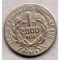 Moeda De Prata 2000 Réis 1924 - Linda! Imperdível!!!