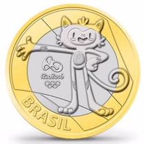 4 Lançamento 1 Real Olimpíadas Rio 2016 Lote C/4 Moedas Novo