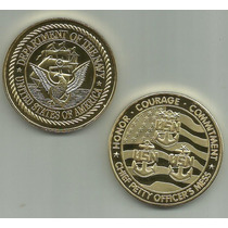 11752 - Usn - Dep. Of The Navy - Banhada A Ouro Nos 2 Lados