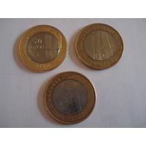 3 Moedas Comemorativas 1 Real Banco Central 50/40anos E Jk
