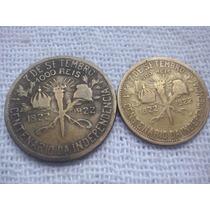 Moedas De 500 E 1000 Réis 1922 Centenário Da Independência