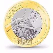 Moeda Comemorativas Olimpiadas 2016 Basquete , Imperdível