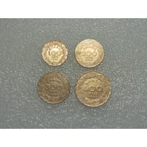 100, 200, 300 E 400 Réis 1942 - Niquel Rosa