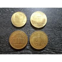 Coleção Brasileiros Ilustres-bronze-alum. 4 Moedas