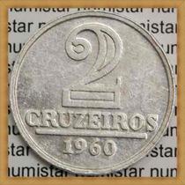 Moeda Antiga 2 Cruzeiros Brasil República Objetos Antigos