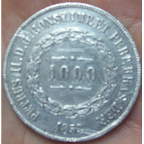 Moeda 1000 Réis 1853 Petrus Ii (prata)