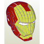 Molde De Papel (papercraft) Tamanho Real Capacete Iron Man!!