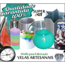 Kit Molde Fabricação Velas Artesanais