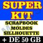 Scrapbook Digital Moranguinho + Super Kit Sillhouette Cameo