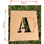 Stencil Letra Alfabeto + Numeros 15cm De Altura Mdf 3mm
