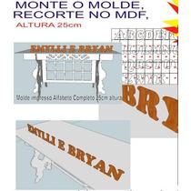 Molde De Letras Grande A- Z Arquivo D Imprimir 25cm Alt