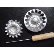 Kit Frisador Flores Eva Em Alumínio 24 Peças + Apostila B