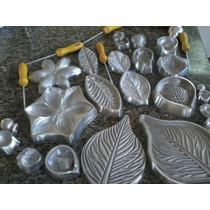Kit Frisadores Em Aluminio 24 Frisadores De Flores Eva
