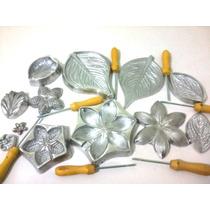 19 Frisadores De Flores, Frisadores Em Aluminio + Apostila