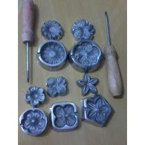 Frisadores Para Flor Em Eva, Tecido, Palha E Couro