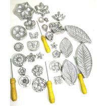 Kit Frisadores De Flores Com 24 Peças Em Alumínio