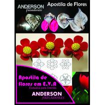 Kit Frisador Flores Eva Em Alumínio 20 Peças + Apostila