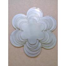 5 Moldes Fuxico:flor, Circulo, Borboletas, Coração, Estrela.