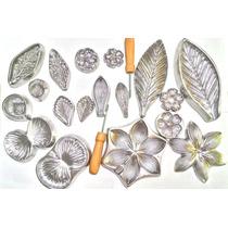 Kit Frisador Para Flores Eva 9 Peças Alumínio Frete Grátis
