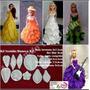 Frisador Em Aluminio Kit 5 Peças Para Vestidos De Bonecas