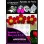 Kit Frisador Flores Eva Em Alumínio 8 Peças + Apostila
