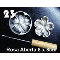 Frisador Modelagem De Flores Tecidos Eva Rosa Aberta 23