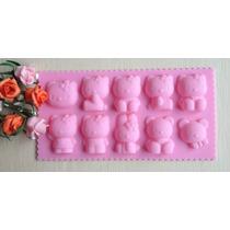 Molde De Silicone/ Hello Kitty,mini Bolos,cake,chocolate,