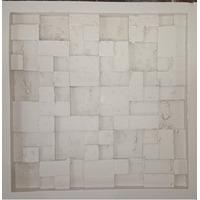 Forma De Silicone P/ Placa De Gesso Mosaico Travertino-mc-sp