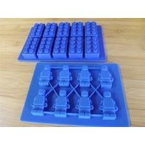 2 Molde Silicone Lego P Pasta Americana Chocolate Frete R$10