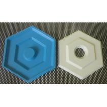 Forma Para Florão De Gesso Sextavado (silicone)