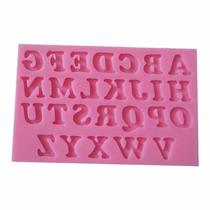 Molde Silicone Letras Biscuit Trufas Cupcake Mini Bolo