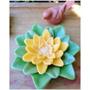 02 Moldes De Silicone Bipartido Para Compor A Flor De Lótus