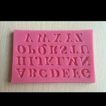 Molde Silicone 26 Letras 1,2 X 1,2 Cm