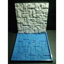 Forma Silicone Mosaico 3d Gesso Canjiquinha 30x30 Cm